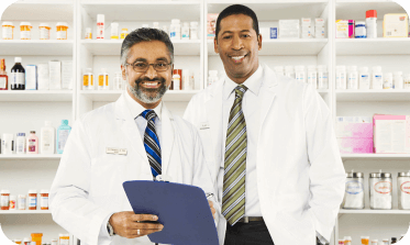 pharmacists smiling